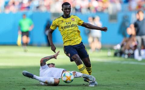 <span>Nketiah caused problems for the Fiorentina defence with his willingness to dart in behind</span> <span>Credit: USA Today </span>