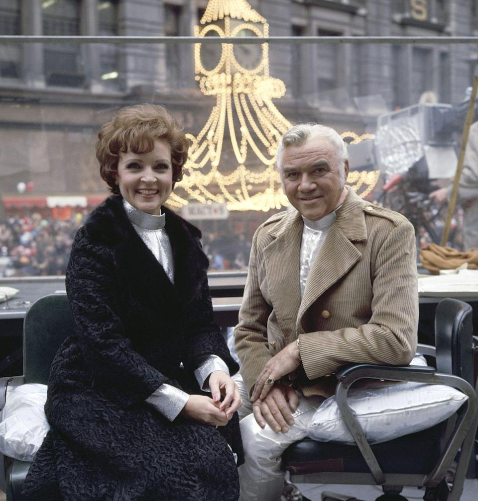 """<p>In 1968, White and Greene co-hosted the Macy's Thanksgiving Day Parade in New York City. White once told <em><a href=""""https://parade.com/634316/samuelmurrian/betty-white-on-her-legacy-memories-and-her-recipe-for-living-a-long-happy-life/"""" rel=""""nofollow noopener"""" target=""""_blank"""" data-ylk=""""slk:Parade"""" class=""""link rapid-noclick-resp"""">Parade</a></em> her best tip is, """"Enjoy life. Accentuate the positive, not the negative. It sounds so trite, but a lot of people will pick out something to complain about, rather than say, 'Hey, that was great!' It's not hard to find great stuff if you look.""""</p>"""