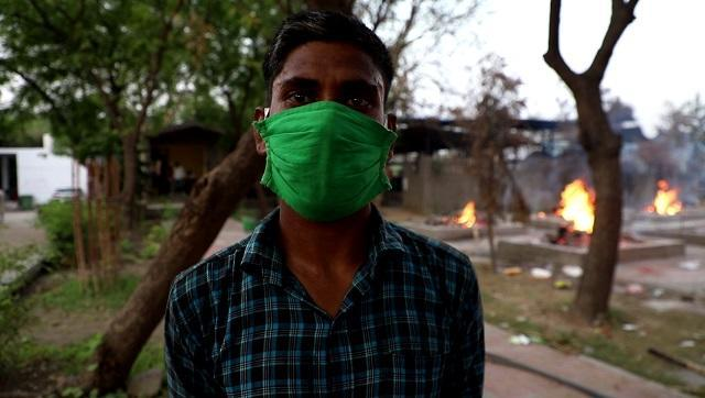 Nilam, who works at a crematorium in Delhi says she has to assist in burning 50-60 bodies in a day during the ongoing pandemic.