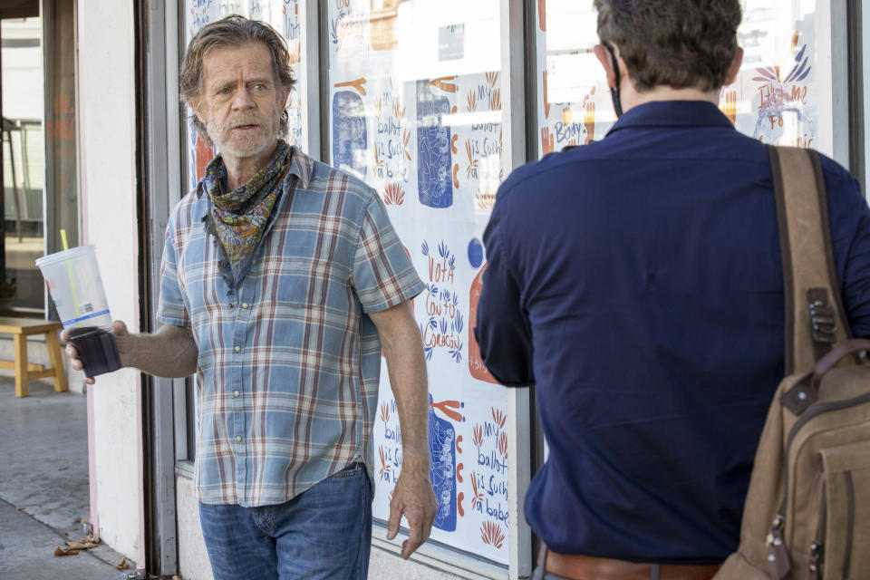 "William H. Macy como Frank Gallagher en una escena de la serie ""Shameless"". (Paul Sarkis/Showtime vía AP)"