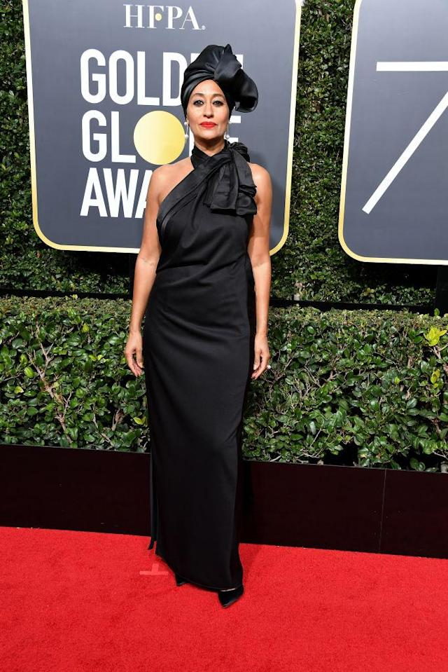 <p>The <em>Black-ish</em> actress, whose show was nominated for Best Television Series — Musical or Comedy, attends the 75th Annual Golden Globe Awards at the Beverly Hilton Hotel in Beverly Hills, Calif., on Jan. 7, 2018. (Photo: Steve Granitz/WireImage) </p>