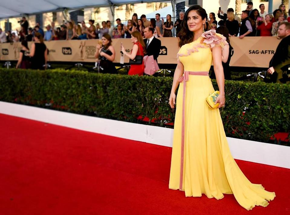 ESC: Salma Hayek, 2017 SAG Awards, Worst Dressed