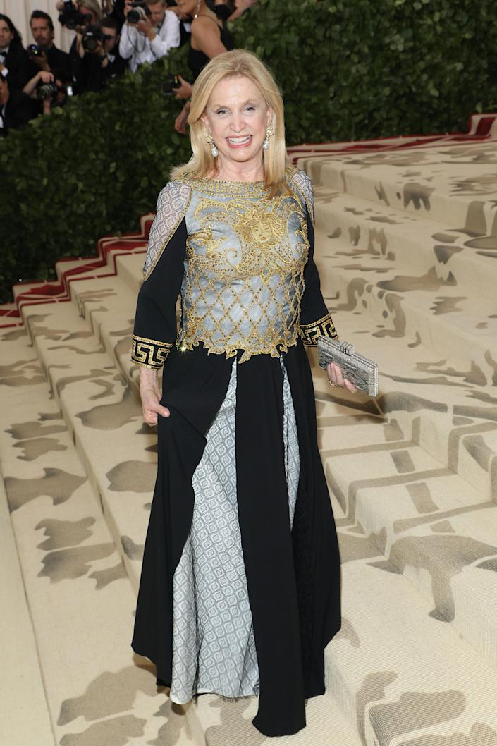 Carolyn Maloney at the Met Gala in 2018.