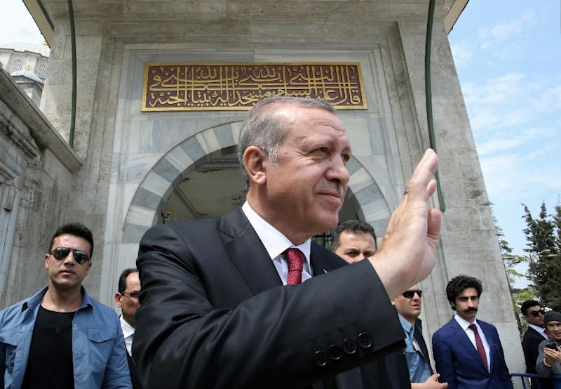 """Erdogan has told monitors who criticised the referendum: """"Know your place"""" (AFP Photo/YASIN BULBUL)"""