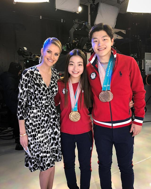<p>maiashibutani: So happy @alexshibutani and I got to see @tanith_white today! (Photo via Instagram/maiashibutani) </p>