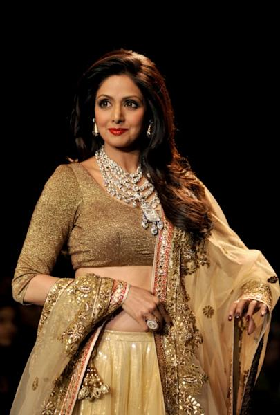 Sridevi appeared in around 300 films during a career that spanned over four decades
