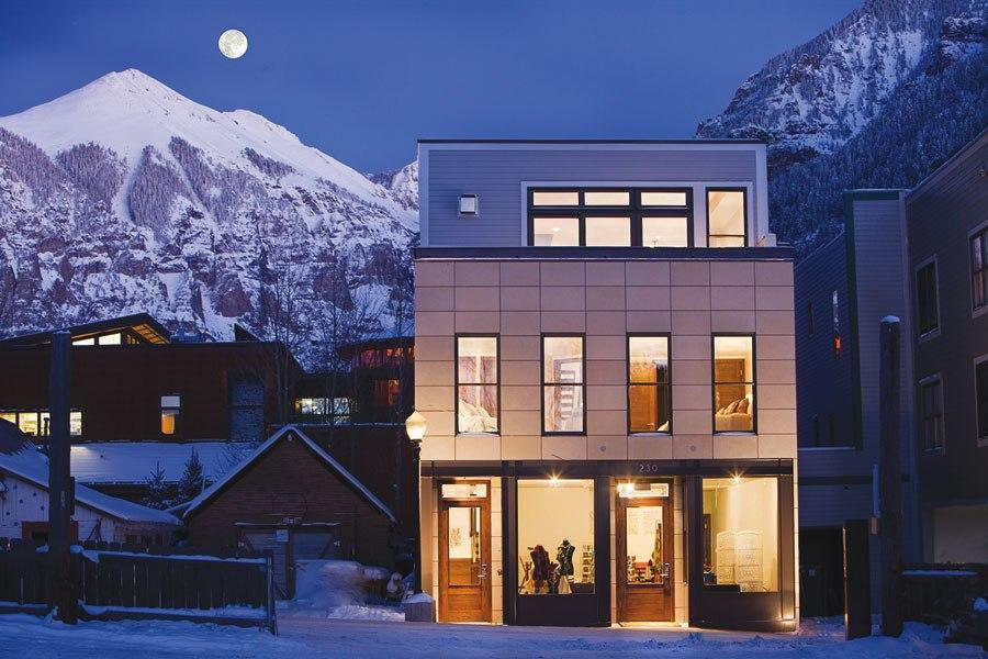 "<b><a href=""http://homes.yahoo.com/search/Colorado/Telluride/homes-for-sale"" target=""_blank"">Telluride, Colorado</a> </b><br> <p>Listing: $5.6 million<br> Home Details:<br> 4 bedrooms<br> 4.5 baths<br> 4,615 square feet</p> <br> <p>Pedigree: A unique contemporary residence located in the center of town, this 2010 home is notable for its gridlike white façade and is being sold fully furnished. Designed by local architect Ray Messier, the three-story structure features dramatic limestone tiling in the entryway and white-oak floors throughout the other rooms.</p>"