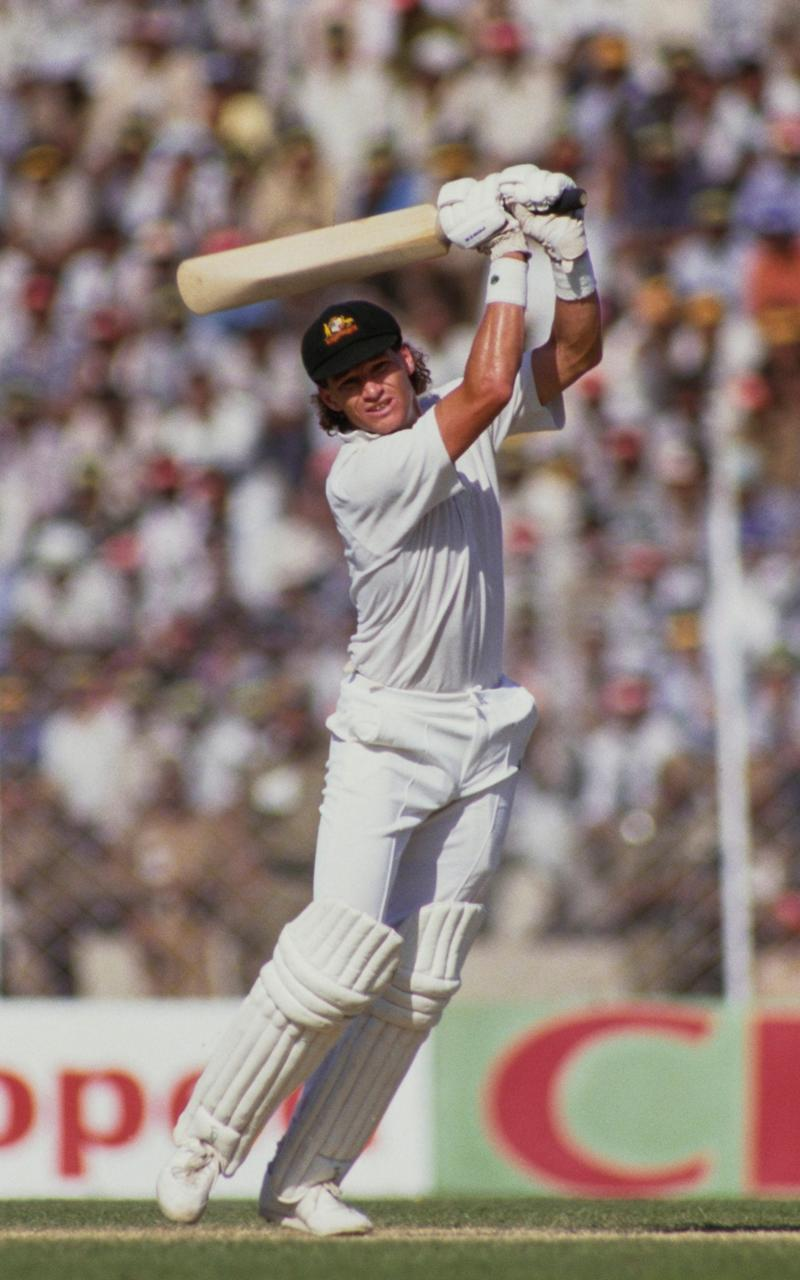 In action for Australia against India in Chennai at the 1987 World Cup - Adrian Murrell/Allsport/Getty Images/Hulton Archive