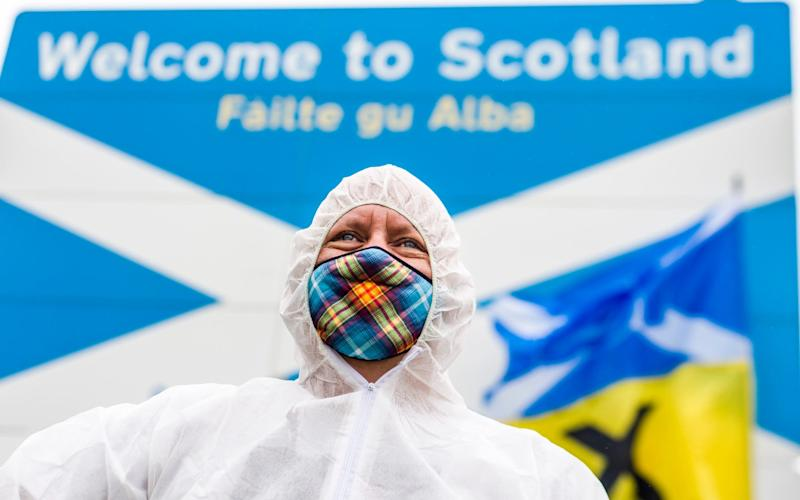 "The ""dodgy"" figures inspired ugly ""anti-English"" protests at the border from SNP supporters, opponents said - Euan Cherry/Euan Cherry"