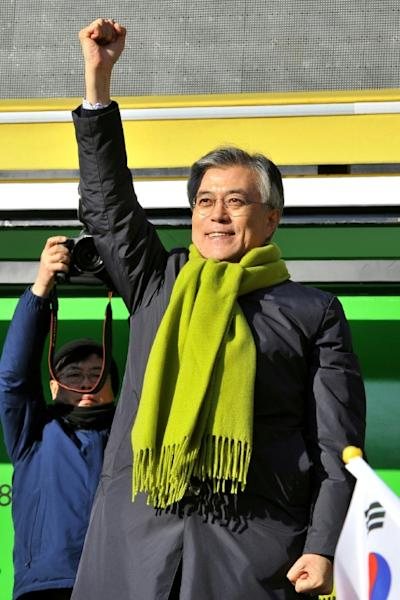Opposition Democratic Party leader Moon Jae-In holds a commanding lead in opinion polls in the run up to South Korea's presidential elections