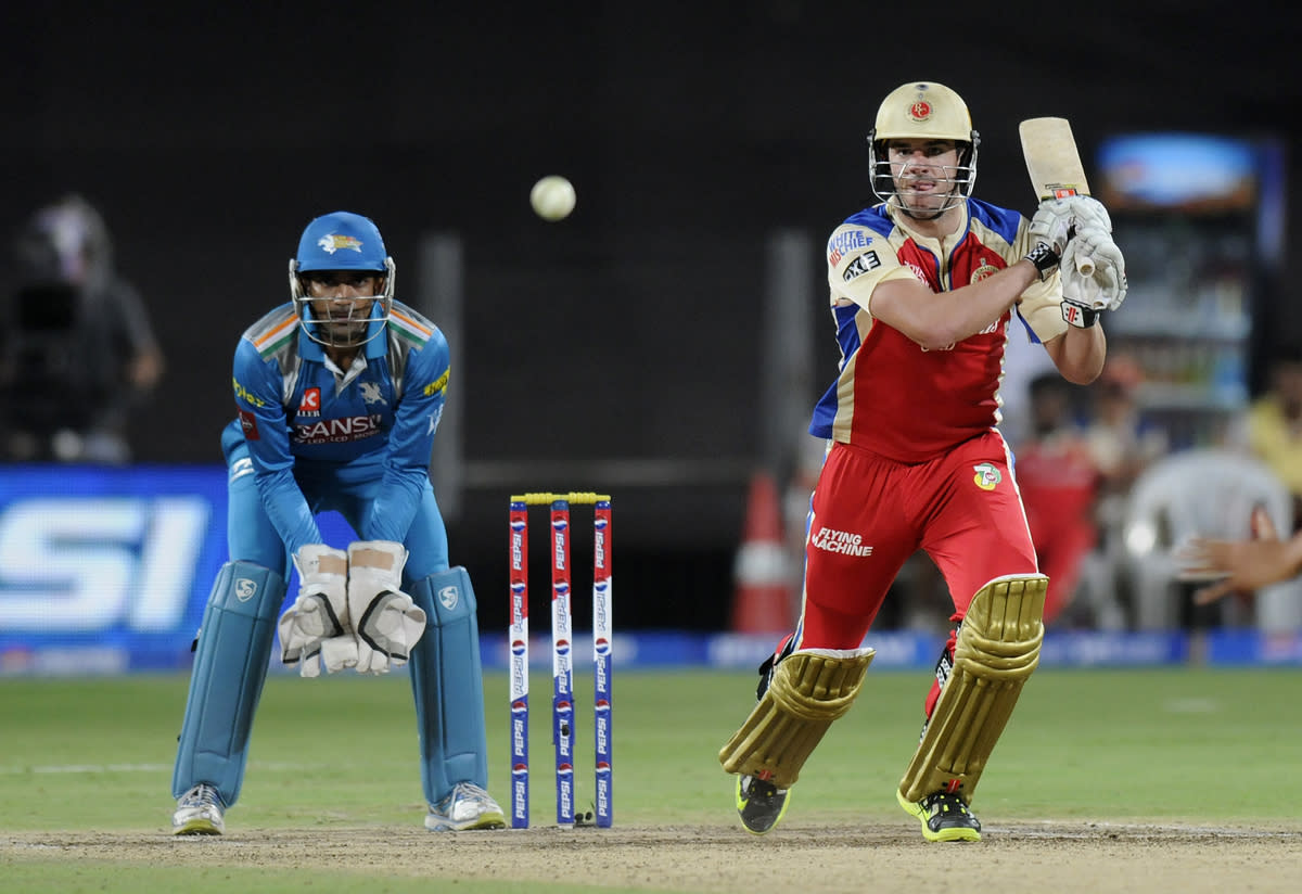 Moises Henriques of Royal Challengers Bangalore bats during match 46 of the Pepsi Indian Premier League ( IPL) 2013  between The Pune Warriors India and the Royal Challengers Bangalore held at the Subrata Roy Sahara Stadium, Pune on the 2nd May 2013..Photo by Pal Pillai-IPL-SPORTZPICS   ..Use of this image is subject to the terms and conditions as outlined by the BCCI. These terms can be found by following this link:..https://ec.yimg.com/ec?url=http%3a%2f%2fwww.sportzpics.co.za%2fimage%2fI0000SoRagM2cIEc&t=1493376690&sig=GZ23ptogUL5yTb_b4O2zZA--~C