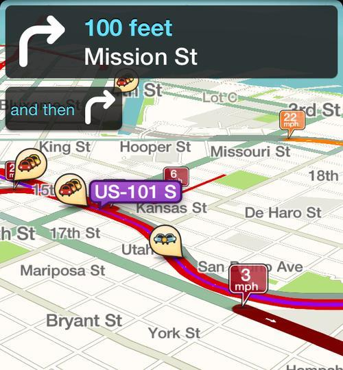 Waze app screenshot