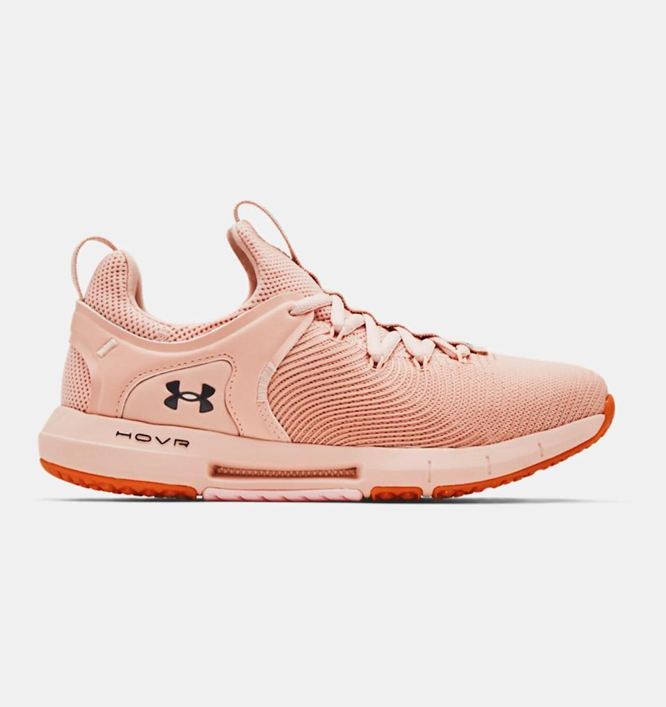 <p>Sick of straining your knees and back whenever you do burpees? These <span>UA HOVR Rise 2 Training Shoes</span> ($100) take the impact out of every HIIT workout with an EVA midsole and a full-rubber outsole.</p>