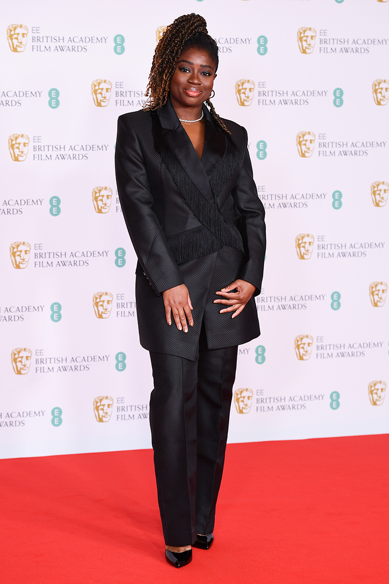 <p>Clara Amfo looks beyond chic in this tailored trouser suit situation, with subtle fringe detailing across the blazer.</p>