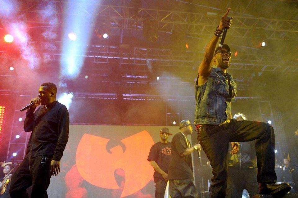 Legendary New York rappers, Wu-Tang Clan. The band's logo was incorporated by staff at Canada's embassy in China for a T-shirt design that has raised the ire of China. Photo: Invision via AP