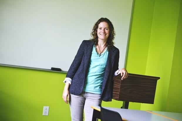 Erin Fredericks is a sociology professor at St. Thomas University in Fredericton.