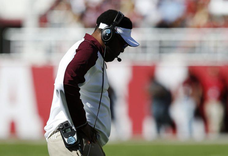 After three straight 8-5 seasons, Kevin Sumlin must win big this season to keep his job. (AP)