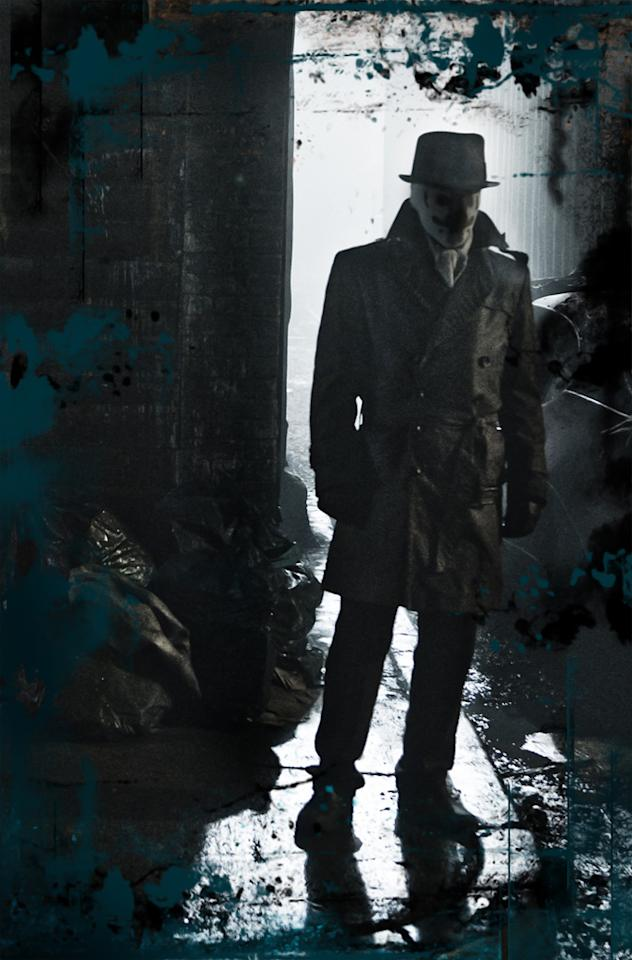 """<a href=""""http://movies.yahoo.com/movie/contributor/1800031219"""">Jackie Earle Haley</a> as Walter Kovacs, aka Rorschach, in Warner Bros. Pictures' <a href=""""http://movies.yahoo.com/movie/1808406490/info"""">Watchmen</a> - 2009"""