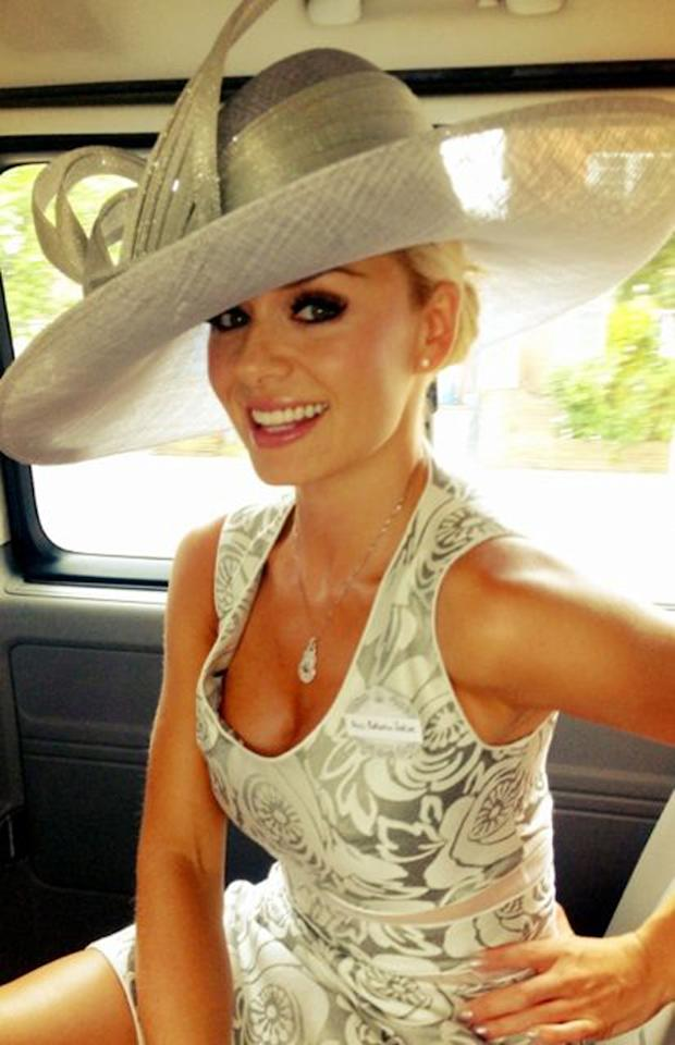 Celebrity photos: No one does sophisticated glamour quite like Katherine Jenkins, and she proved it during a trip to Ascot. The singer tweeted this picture of her outfit and we were girl crushing everywhere. Copyright [Katherine Jenkins]