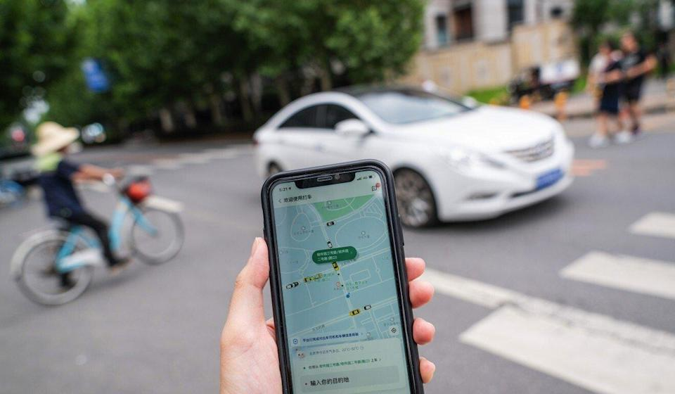 The Didi ride-hailing app on a smartphone. Photo: Bloomberg