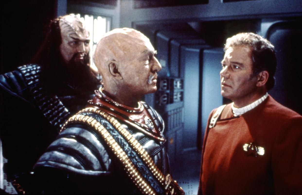 Stratford Festival alums Christopher Plummer and Shatner were reunited on the set of Star Trek VI: The Undiscovered Country (Photo: Paramount Pictures/ Courtesy: Everett Collection)