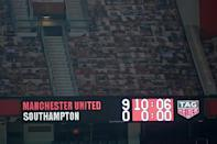 Cloud nine: Manchester United thrashed Southampton 9-0 on Tuesday to equal the Premier League's record win