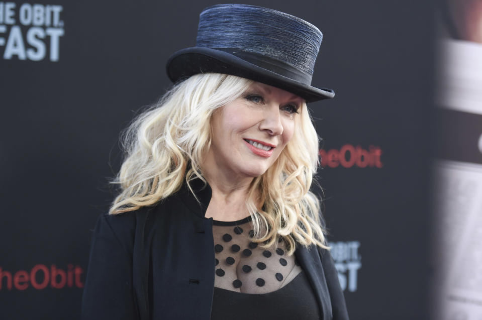 """FILE - Nancy Wilson attends the LA Premiere of """"If You're Not In The Obit, Eat Breakfast"""" in Beverly Hills, Calif. on May 17, 2017. Wilson released her first solo album, """"You and Me."""" (Photo by Richard Shotwell/Invision/AP, File)"""