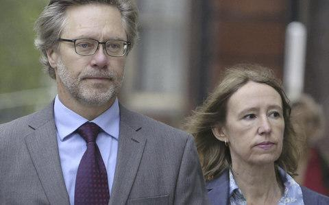John Letts and wife Sally Lane, arrive at Westminster Magistrates Court in June 2016 - Credit: Joe Newman / SWNS.com