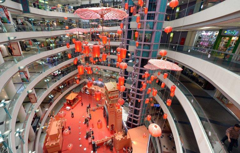 A shopping mall in Jakarta, pictured on February 5, 2013. Dynamic growth and an expanding middle class are making Southeast Asian consumers among the most confident in the world when it comes to their economic prospects, a survey shows
