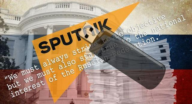 "Quote from the Sputnik ""style guide."" (Photo illustration: Yahoo News; photos: AP, 2, Getty Images, 3)"