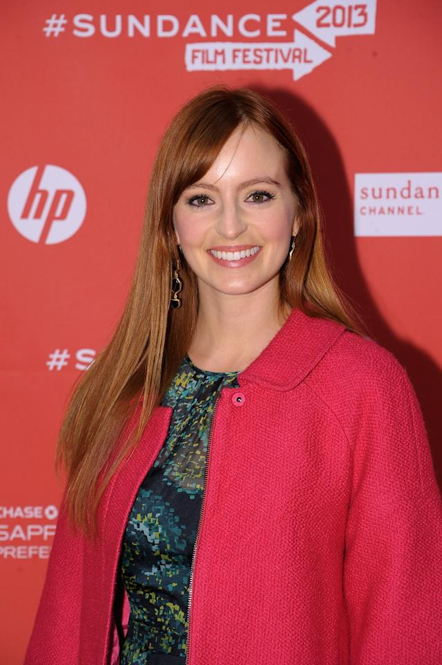 "PARK CITY, UT - JANUARY 25:  Actress Ahna O'Reilly attends the ""jOBS"" Premiere during the 2013 Sundance Film Festival at Eccles Center Theatre on January 25, 2013 in Park City, Utah.  (Photo by Michael Loccisano/Getty Images)"
