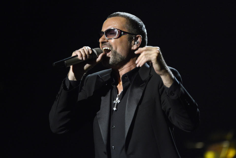 Bristish singer George Michael Performs a Charity Gala Concert for Sidaction at The Palais Garnier Opera House in Paris, France, 09 September 2012. (Photo by Eddy LEMAISTRE/Corbis via Getty Images)
