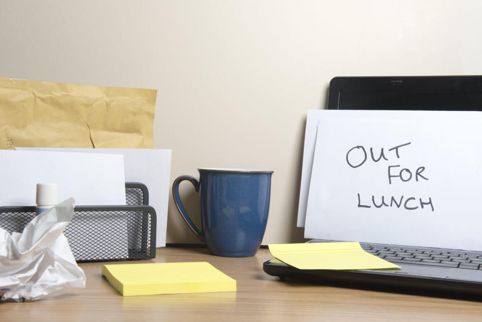 Going out for lunch is better for our physical and mental health [Photo: Getty]