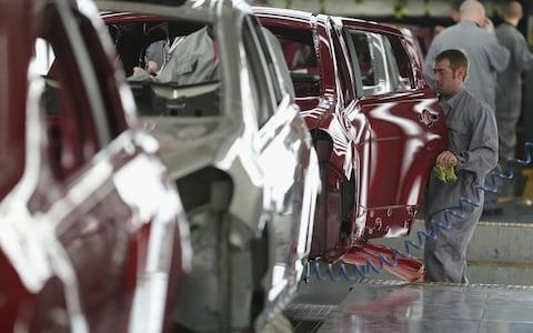 car production line - Credit: Getty