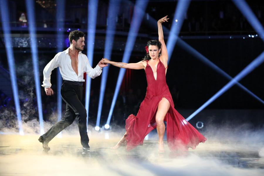 "<p><a rel=""nofollow"" href=""https://instagram.com/ruelarue"">Rumer Willis</a> and <a rel=""nofollow"" href=""https://twitter.com/iamvalc"">Val Chmerkovskiy</a> are back on top, following last week's amazing score (and their near death experience when somehow they were one of the last couples left for elimination? WHAT THE HECK, AMERICA?!). Immediately after last week's show, Val broke down and cried because he felt he had let Rumer down and it was so sweet! So this week they were BACK with a vengeance, and thankfully America told them to dance a rhumba, which is one of the styles that Rumer excels at. It was so beautiful and uplifiting and from the very first minute I knew my lil Rumer was going to be ALRIGHT. She wore a stunning red ruffled gown, and he wore the classic uniform of a white shirt and black trousers. The judges, of course LOVED IT, and Rumer and Val scored the first perfect score of the season!</p>"