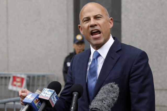 "Attorney Michael Avenatti, who among other things alleges that Nike paid players to attend its sponsored colleges, claims Duke never sought information from him in its investigation of <a class=""link rapid-noclick-resp"" href=""/nba/players/6163/"" data-ylk=""slk:Zion Williamson"">Zion Williamson</a>. (AP Photo)"