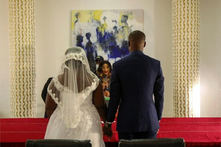 The 28-year-old married Indat Ange Désiré in the main Ivory Coast city, Abidjan, shortly after the establishment closed.