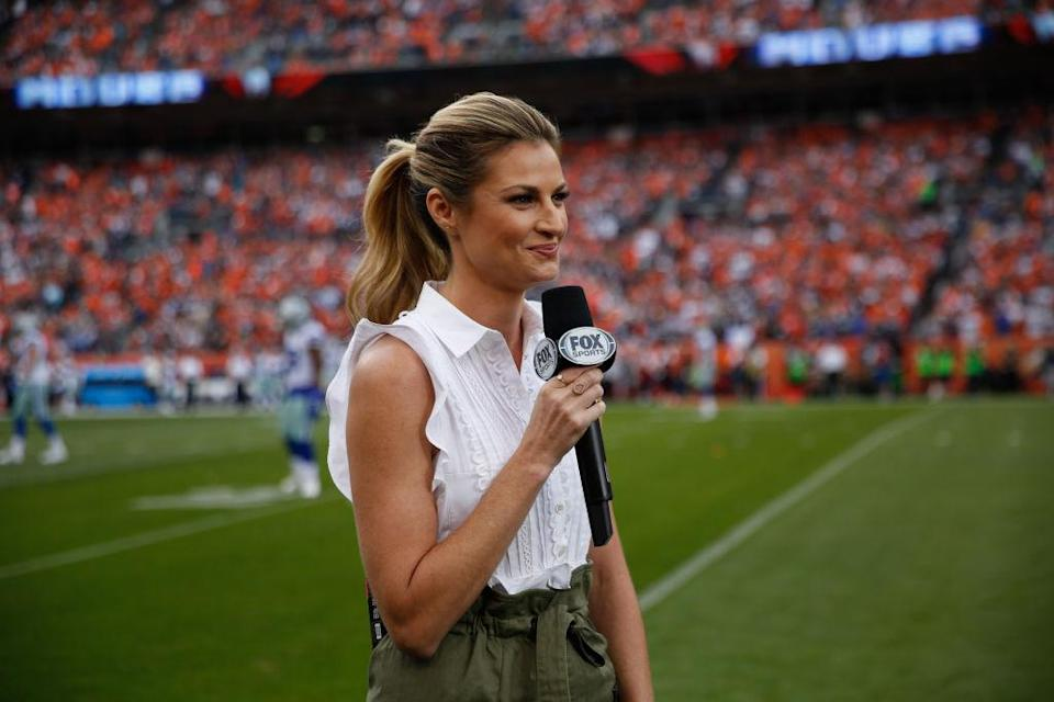 Erin Andrews during a game between the Denver Broncos and the Dallas Cowboys in September. (Photo: Justin Edmonds/Getty Images)