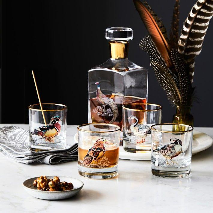 """<p>williams-sonoma.com</p><p><strong>$59.95</strong></p><p><a href=""""https://go.redirectingat.com?id=74968X1596630&url=https%3A%2F%2Fwww.williams-sonoma.com%2Fproducts%2Fplymouth-birds-double-old-fashioned-glasses&sref=https%3A%2F%2Fwww.housebeautiful.com%2Fentertaining%2Fholidays-celebrations%2Fg11%2Fthanksgiving-table-setting-ideas-1011%2F"""" rel=""""nofollow noopener"""" target=""""_blank"""" data-ylk=""""slk:BUY NOW"""" class=""""link rapid-noclick-resp"""">BUY NOW</a></p><p>Or, serve up drinks in these bird-themed glasses for a perfectly festive cocktail hour. </p>"""