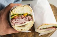 "<p><strong>Italian Sub</strong></p><p>Given New Jersey's vast Italian-American population it should be a given that a good ol' Italian hoagie is done right in the Garden State. <a href=""https://www.facebook.com/pages/cosmos-italian-salumeria/141467545893843"" rel=""nofollow noopener"" target=""_blank"" data-ylk=""slk:Cosmo's Italian Salumeria"" class=""link rapid-noclick-resp"">Cosmo's Italian Salumeria</a> in Hackensack has one of the best. It's a beautiful combination of ham, salami, soppressata, capicola, mozzarella, provolone and sweet peppers served cold.</p>"