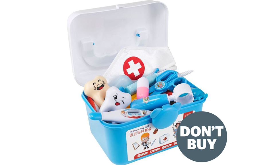 The AliExpress doctor's set (Which?/PA)