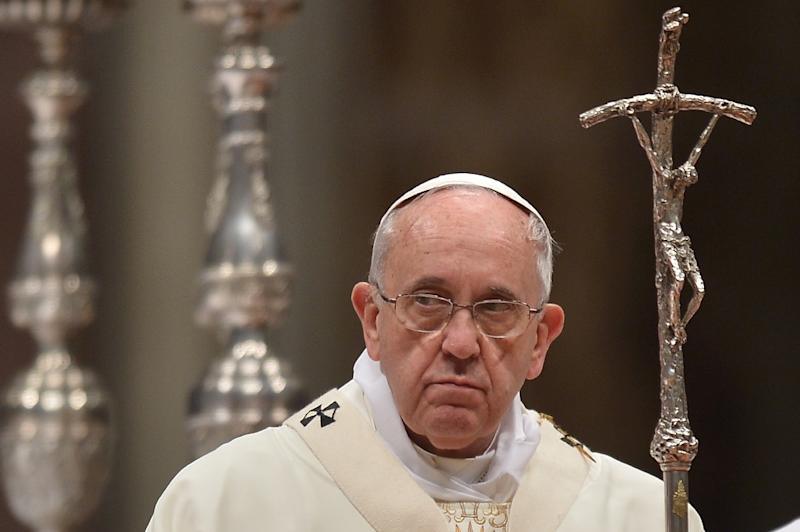 Image result for sad pope francis