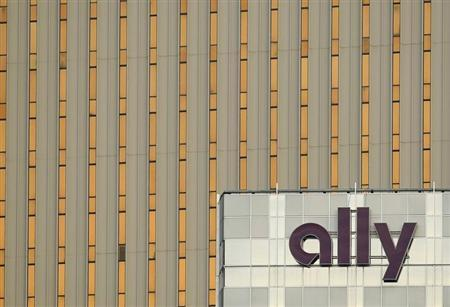 Ally Financial sign is seen on a building in Charlotte, North Carolina