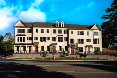 The Somerset townhome, offering a versatile 3-bedroom layout at Sherwood Crossing in sought-after Duluth.
