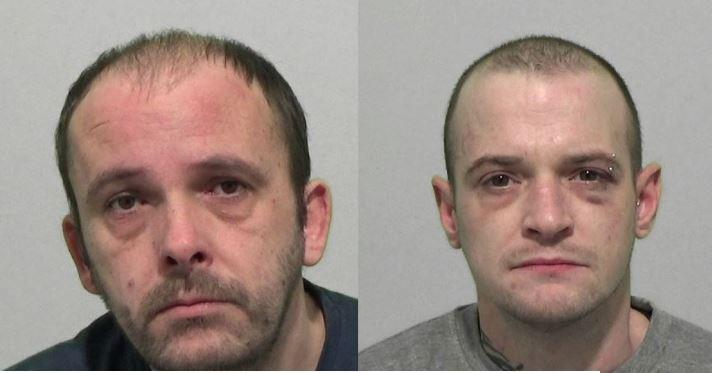 Carl Potter, 38, and Daniel Davies, 34, have been banned from ecah other's homes (Picture: Police)