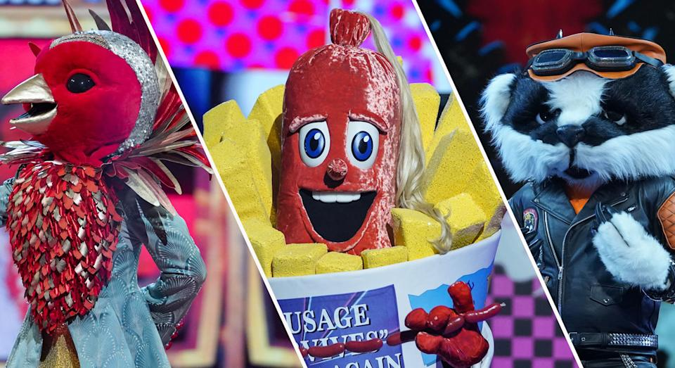 Just three singers remain: Robin, Sausage and Badger (ITV)
