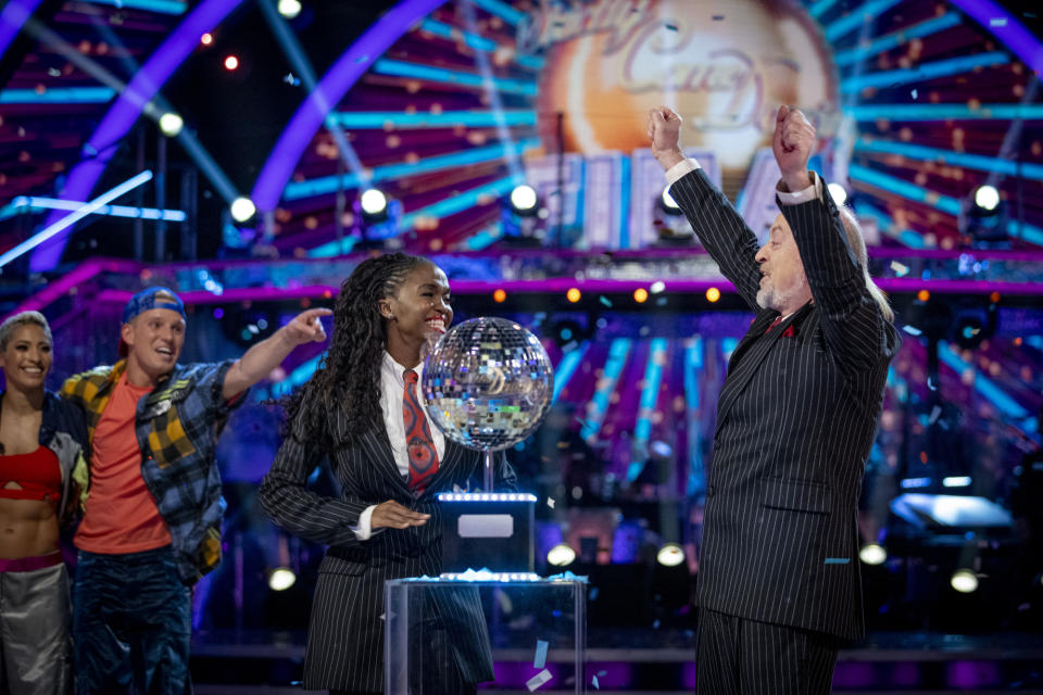 Oti Mabuse won 'Strictly Come Dancing' with comedian Bill Bailey in 2020. (Guy Levy/BBC)