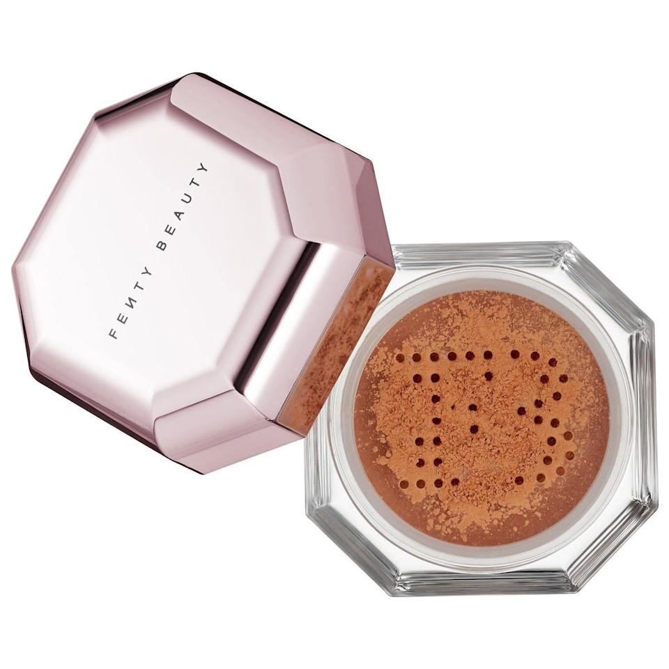 "<p><strong>FENTY BEAUTY by Rihanna</strong></p><p>sephora.com</p><p><strong>$18.00</strong></p><p><a href=""https://go.redirectingat.com?id=74968X1596630&url=https%3A%2F%2Fwww.sephora.com%2Fproduct%2Fpro-filt-r-instant-retouch-setting-powder-P88779810&sref=https%3A%2F%2Fwww.goodhousekeeping.com%2Fbeauty-products%2Fg35745893%2Fbest-face-powders%2F"" rel=""nofollow noopener"" target=""_blank"" data-ylk=""slk:Shop Now"" class=""link rapid-noclick-resp"">Shop Now</a></p><p>Makeup artists and beauty editors alike swoon over Fenty's setting powder, which comes in eight different shades to suit a range of skin tones. The powder is ultra-fine and feels silky and weightless on skin. ""The best for setting under the eyes, especially if you have dark circles,"" says one reviewer. ""<strong>Whenever I use this I get so many compliments on how amazing my under eyes look! More even, bright and flawless.</strong>""</p>"