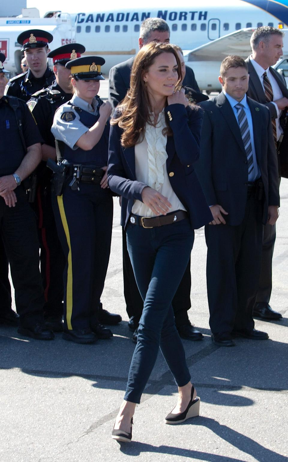 The Duchess of Cambridge in Canada, July 2011 - Wireimage