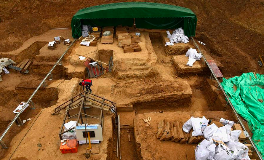 The dig site in Luoyang. Source: Xinhua